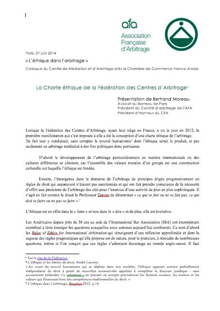 Publications association fran aise d 39 arbitrage - Chambre de commerce franco arabe ...