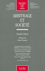 THESE_DANIEL_COHEN_ARBITRAGE_ET_SOCIETE